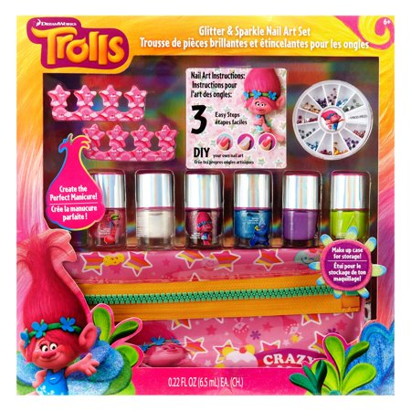 Dreamworks Trolls Diy Nail Art Tutorial 11pc Kit Walmart
