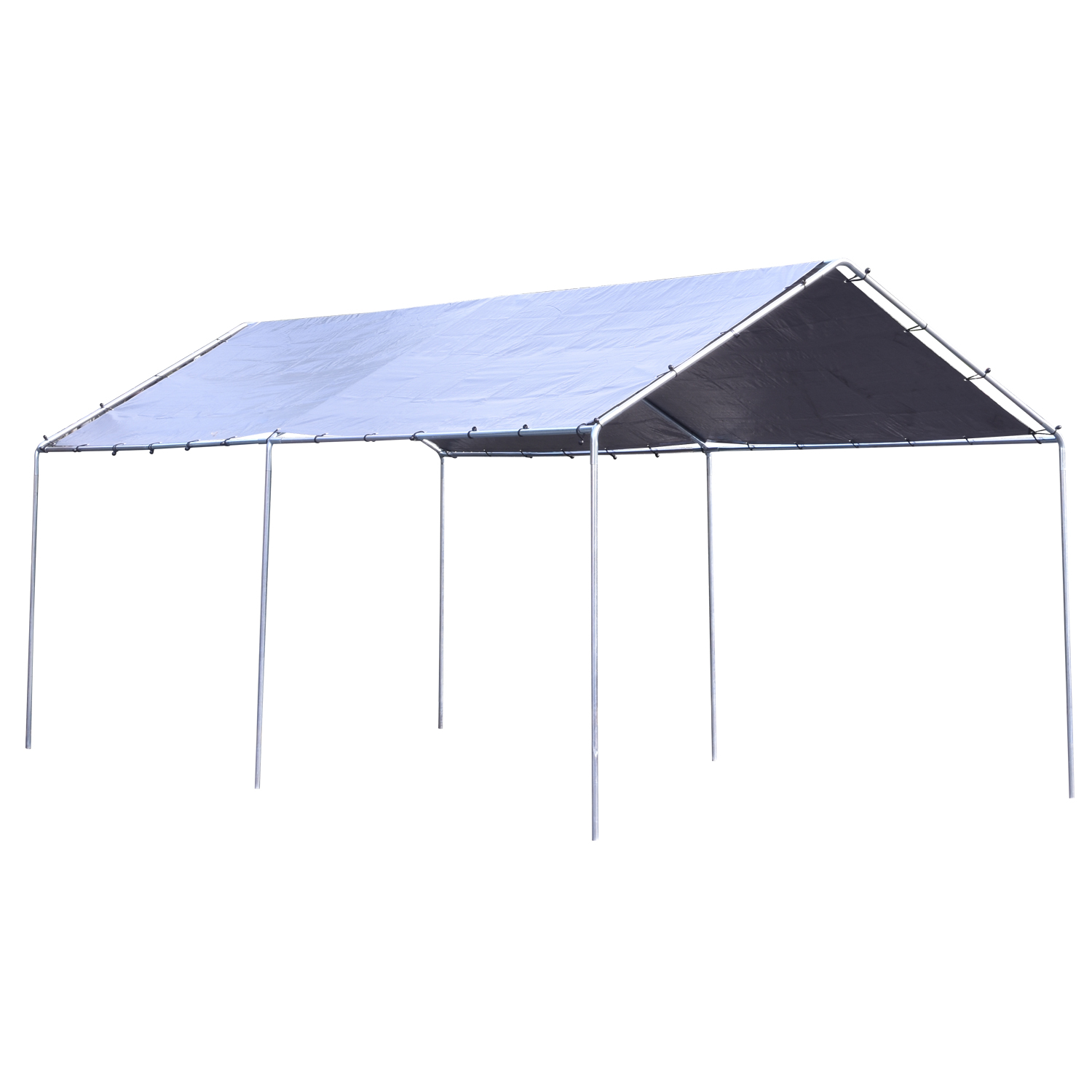 Hiltex Heavy Duty All Purpose Canopy 12' ft. X 20' ft. 2 Section Car Port Flea Market by