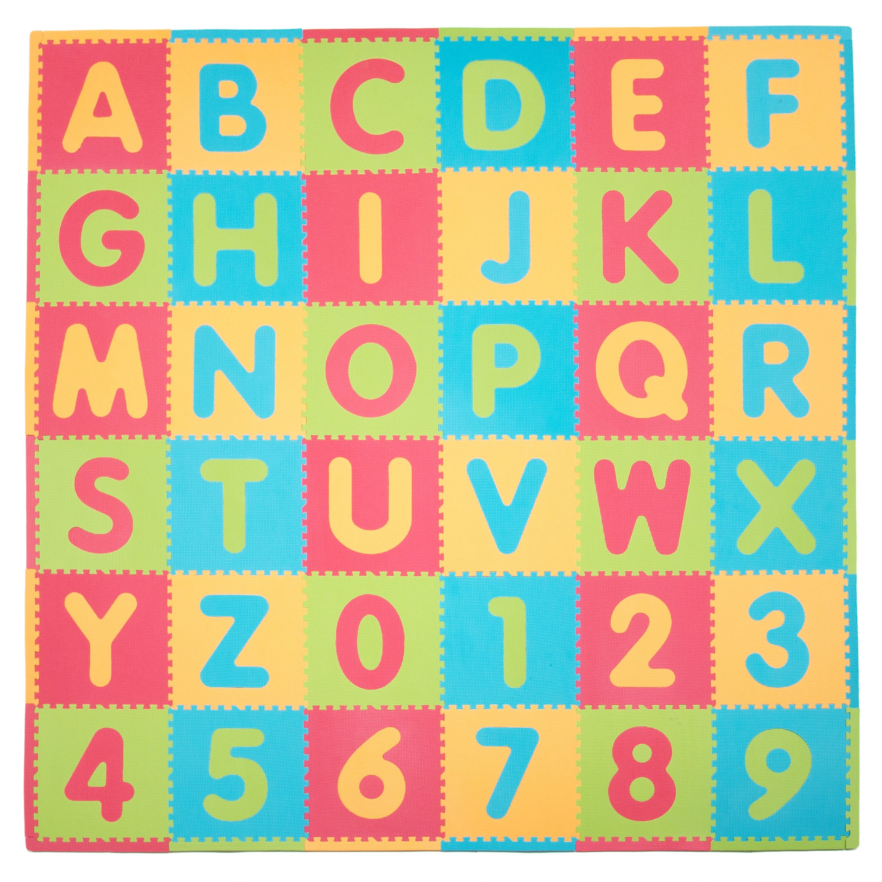Tadpoles ABC Foam Play Mat Set, 36 Pieces