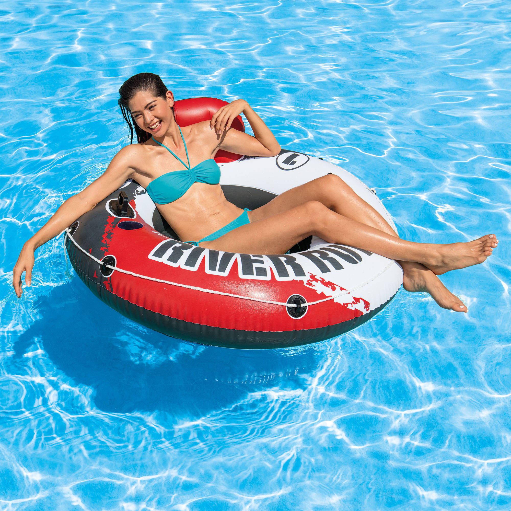 Intex Inflatable Red River Run I Pool Tube, 53""