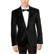 Calvin Klein Mens Velvet One Button Blazer Jacket