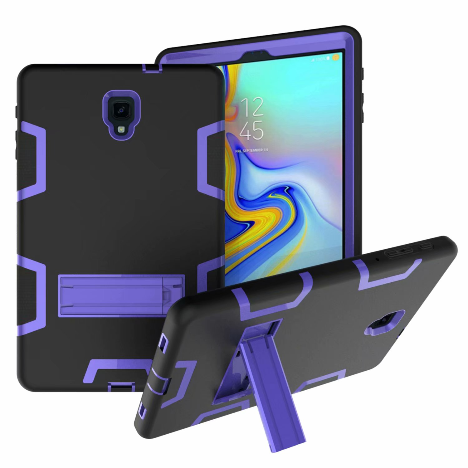 Galaxy Tab A 10.5 Case, Dteck Shockproof Three Layer Hybrid Rugged Heavy Duty Kickstand Anti-Slip Cover For Samsung Galaxy Tab A 10.5 Inch SM-T590 (2018 Release)