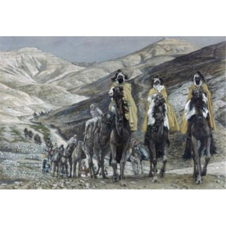 (Posterazzi SAL99930 The Wise Men Journey to Bethlehem James Tissot 1836-1902 French Watercolor Jewish Museum New York Print - 18 x 24 in.)