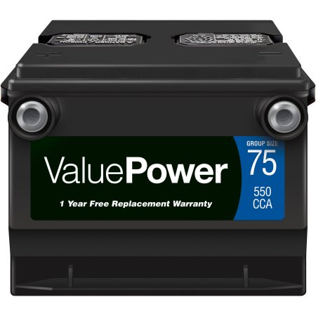 ValuePower Lead Acid Automotive Battery, Group 75