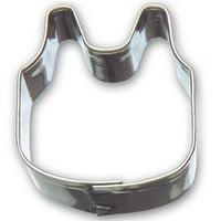 Mini Baby Bib Cookie Cutter 1.25 In. M171 - Foose Cookie Cutters - US Tin Plate Steel