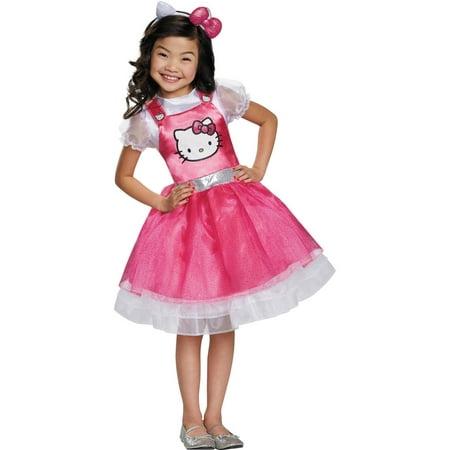 Hello Kitty Pink Deluxe Child Halloween Costume