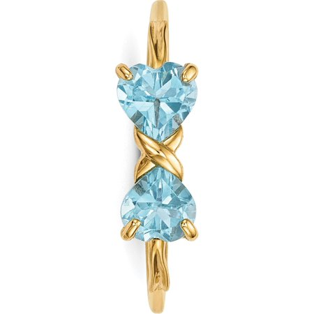 14k Yellow Gold  Polished Light Swiss Blue Topaz Bow Ring - image 1 of 5