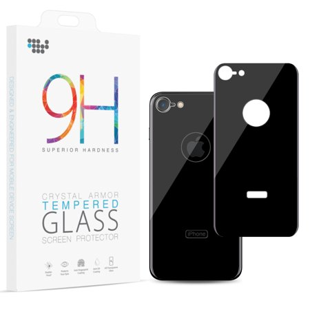 huge selection of 273b4 2c477 APPLE IPHONE 8 BACK COVER TEMPERED GLASS RARE PLATE PROTECTOR - BLACK