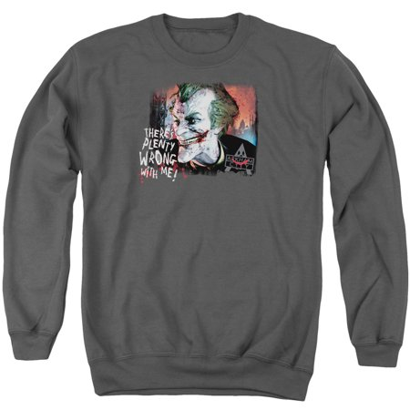 Batman Arkham City DC Comics Joker Plenty Wrong Adult Crewneck
