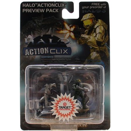 Halo ActionClix Master Chief & Arbiter Figure Preview Pack, 2 Exclusive Halo ActionClix figures - Master Chief and Arbiter By This bonus Halo Ship from US - Master Chief From Halo