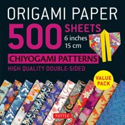 "Origami Paper 500 sheets Chiyogami Designs 6"" 15cm : Tuttle Origami Paper: High-Quality Origami Sheets Printed with 12 Different Designs: Instructions for 8 Projects Included"