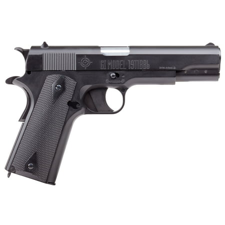 Crosman GI Full Metal 1911 Semi Auto CO2 Powered BB Air Pistol, (Colt 1911 Co2 Pistol 17 Rds Metal Magazine)
