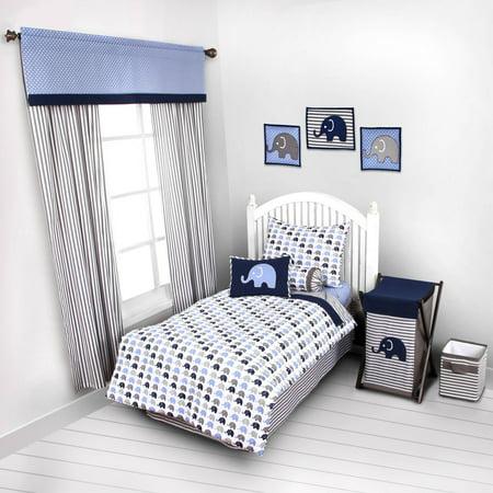 Bacati Elephants 4 Piece Toddler Bedding Set 100 Cotton