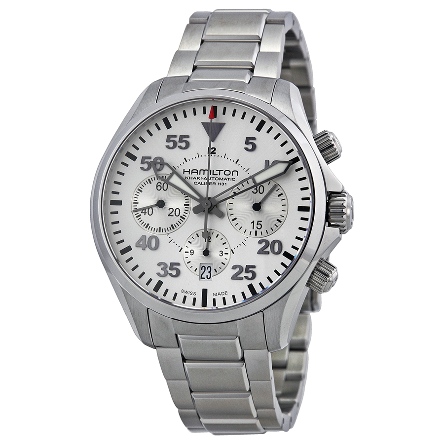 Hamilton Khaki Pilot Automatic Chronograph Mens Watch H64...