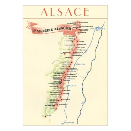 - Map of Alsace Region Wine Country Print Wall Art