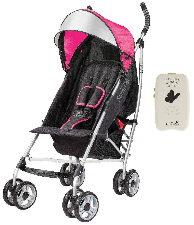 Coche Para Bebe Verano bebé cochecito de conveniencia Lite 3D con chupete Portable, color de rosa + Summer en Veo y Compro