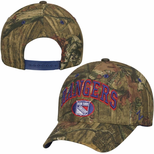 New York Rangers Zephyr Sport Snap Adjustable Hat - Mossy Oak Camo - OSFA