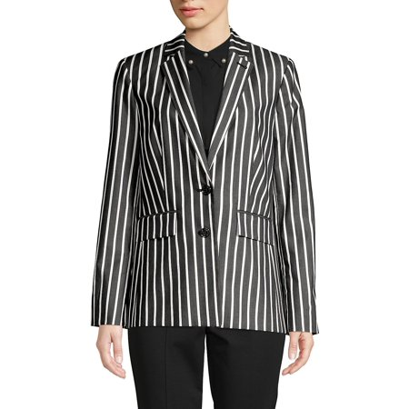 - Striped Button Jacket