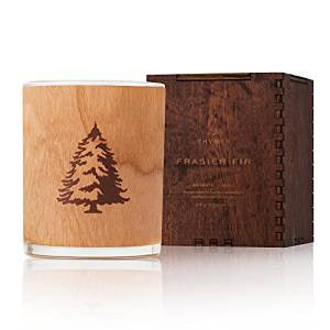 Thymes Frasier Fir Northwoods Wooden Wick Candle 9.5 (Northwood Mall)