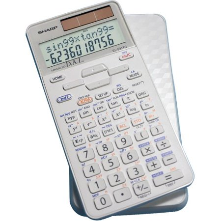 Sharp Calculators EL-531TGBDW Scientific Calculator with 2 Line Display - 273 Functions - Durable, 3-D Light Reflecting Cover - 2 Line(s) - 12 Digits - LCD - Battery/Solar Powered -