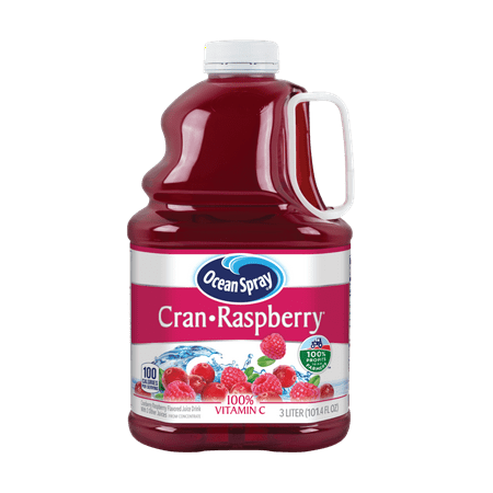 (2 Pack) Ocean Spray Juice, Cran-Raspberry, 101.4 Fl Oz, 1 Count