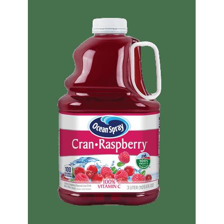 (2 Pack) Ocean Spray Juice, Cran-Raspberry, 101.4 Fl Oz, 1
