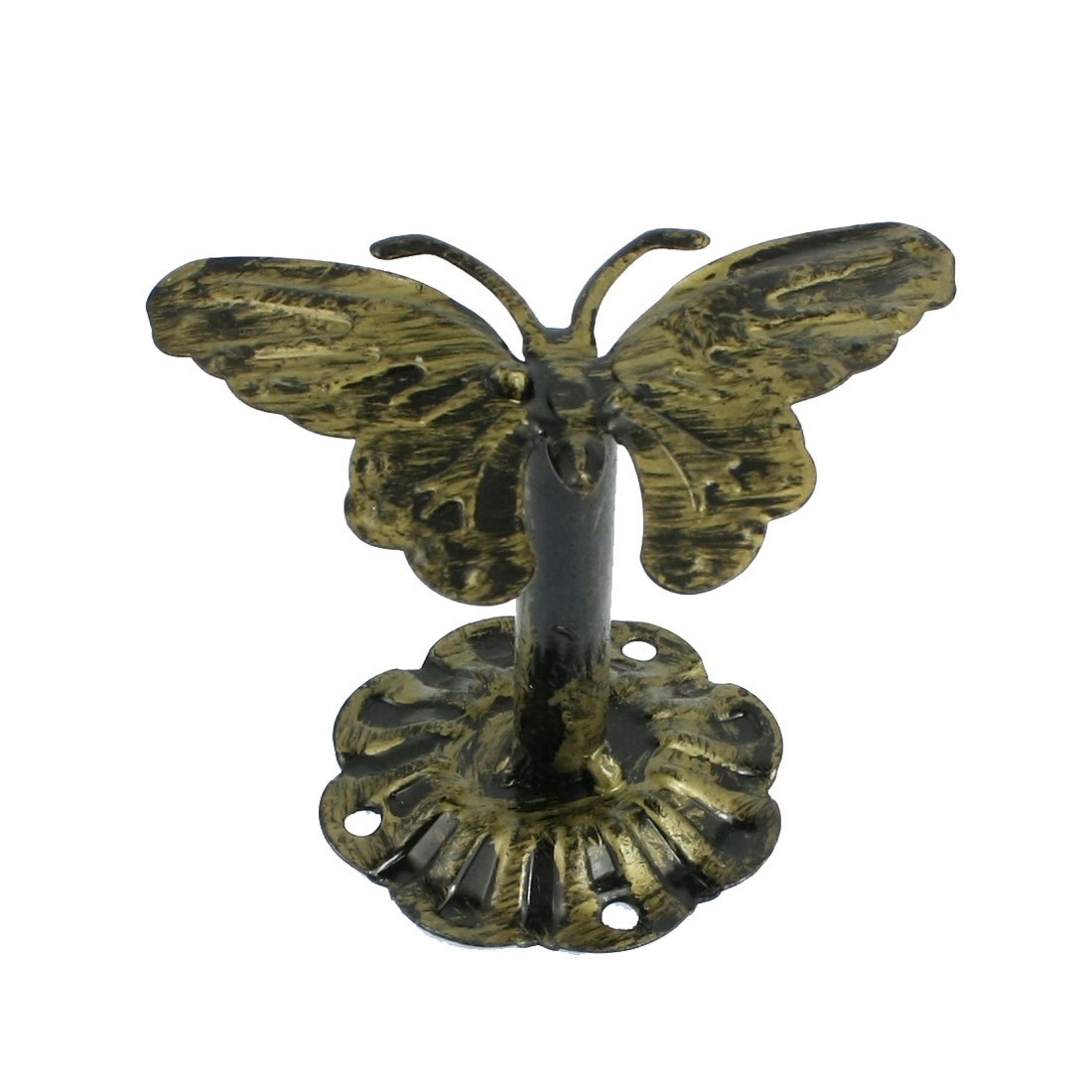 Wall Mount Butterfly Top Antique Sytle Metal Hanger Bag Clothes Hook