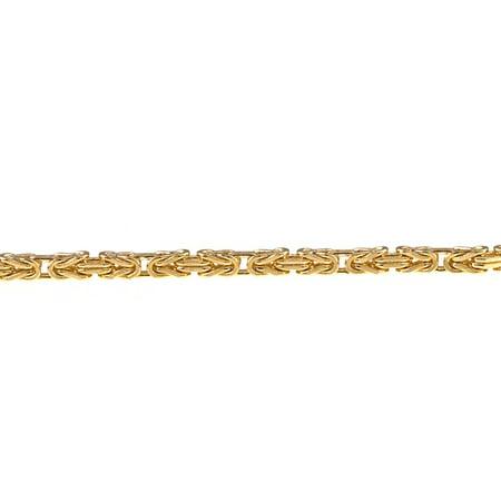 14k Yellow Gold Necklace Bizantine Byzantine Basket-weave - Length: 16 to 30