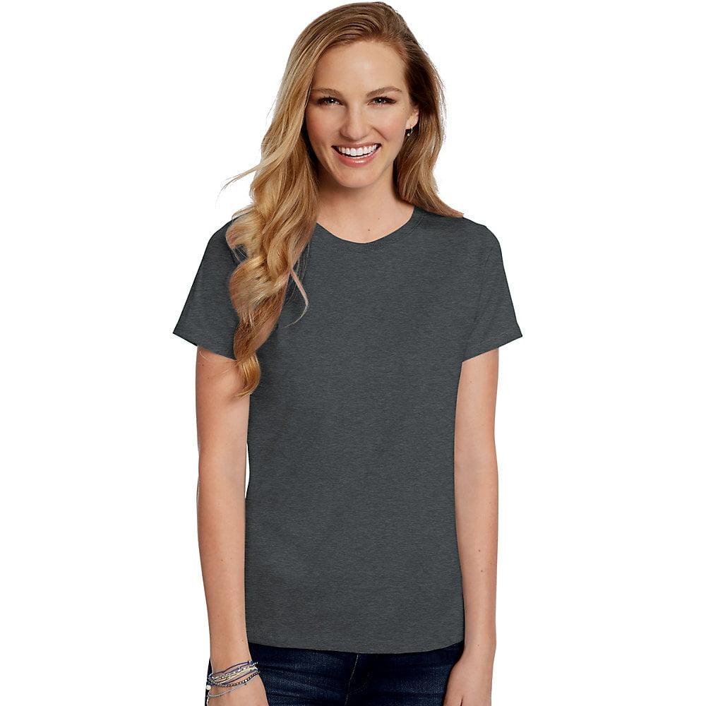 24470f0c Hanes - Hanes Women's Relaxed Fit Jersey ComfortSoft® Crewneck T-Shirt -  5680 - Walmart.com