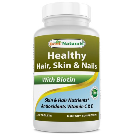 Best Naturals Hair Skin and Nails Vitamins with biotin 120