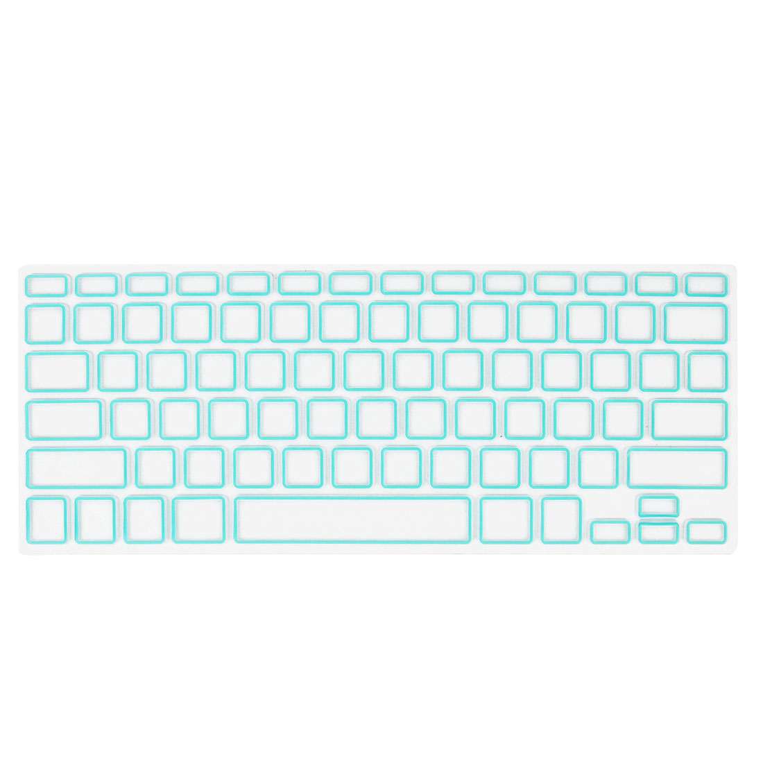"""Unique Bargains Soft Film Protective Keyboard Cover Mint Green Clear for Apple MacBook Air 13.3"""""""