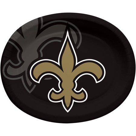 New Orleans Saints Oval Platters, 8-Pack - New Orleans Saints Halloween Decorations