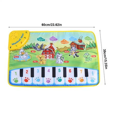 WALFRONT Baby Music Mat Children Crawling Piano Carpet Educational Musical Toy Kids Gift - image 1 of 9
