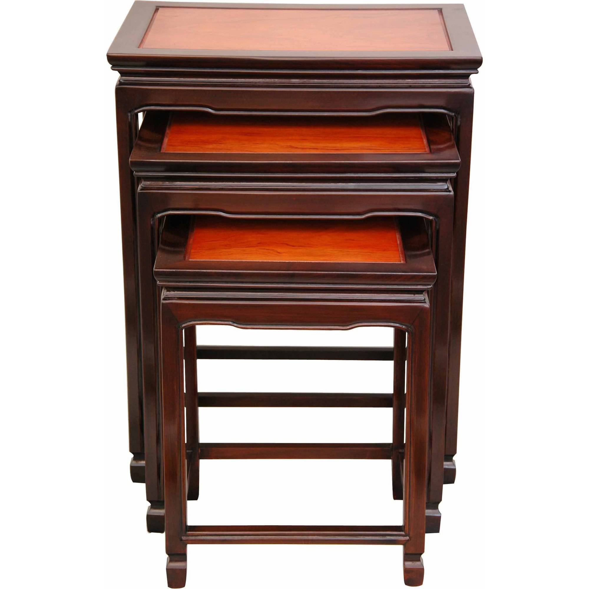 Rosewood Nesting Tables, Two-tone