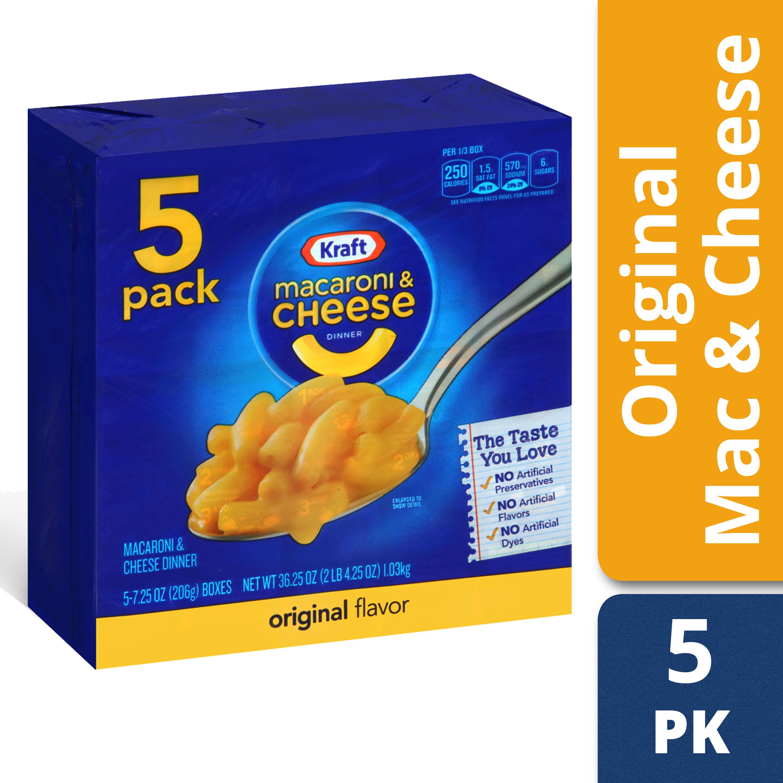 Walma Com: Kraft Original Flavor Macaroni & Cheese Dinner, 5