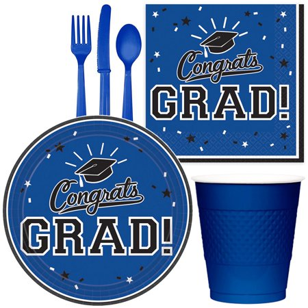 Congrats Grad Blue Party Pack For (18 Congrats Stars)