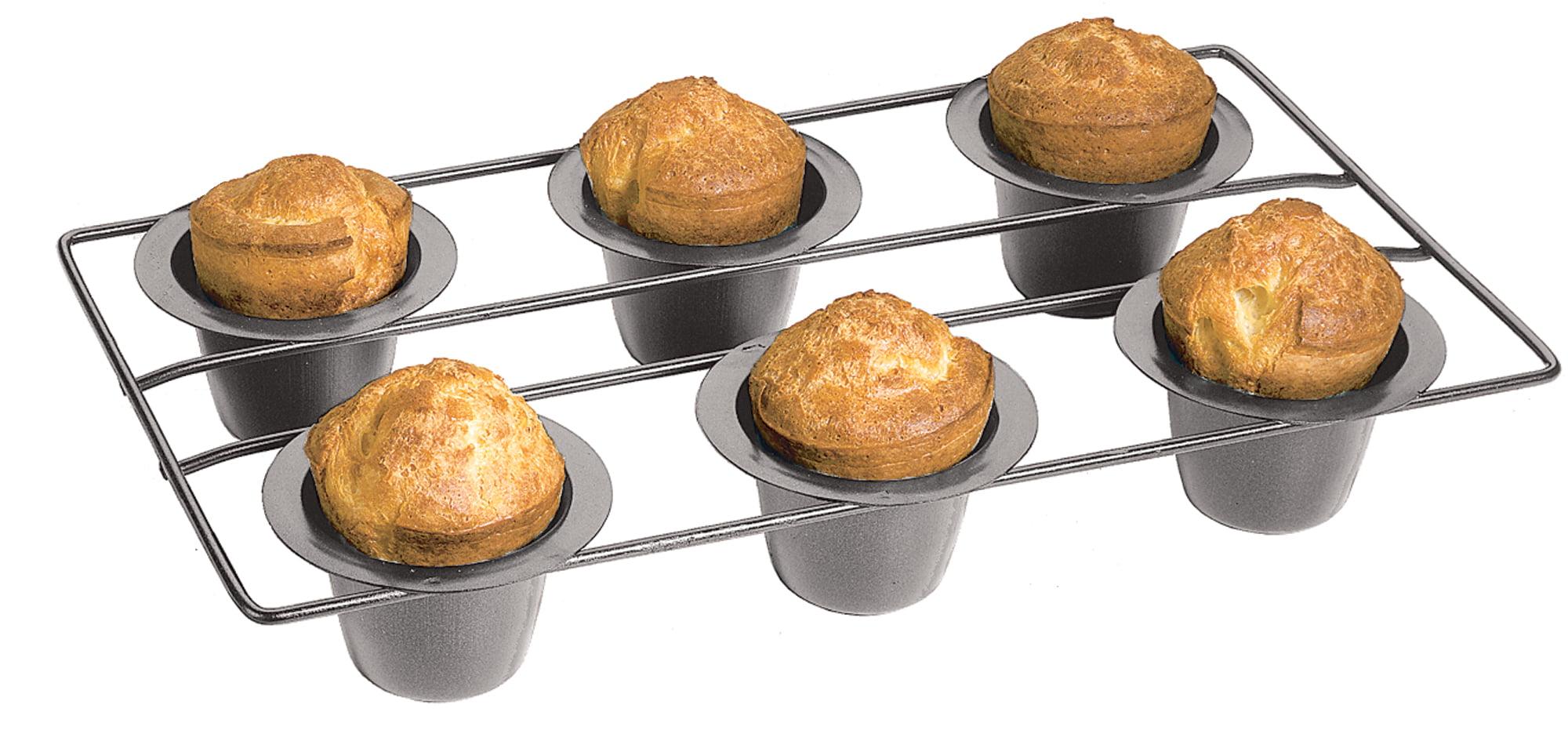 Fox Run Nonstick 6 Cup Linking Popover Muffin Pan Baking Bakeware Breakfast New