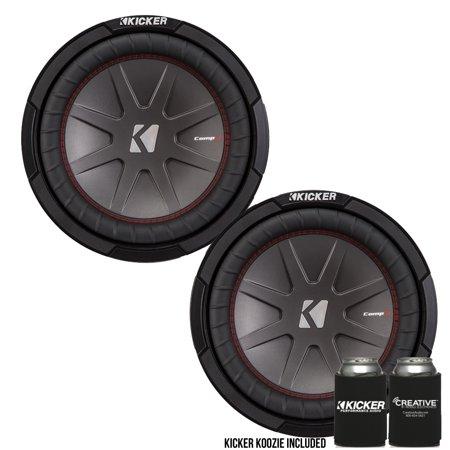 """Kicker 43CWR104 10""""  Dual Voice Coil 4 ohm Comp R woofers Bundle"""