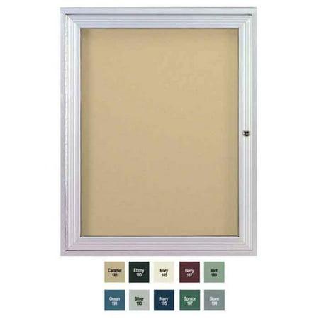 Ghent PA13624VX-197 36 in. x 24 in. 1-Door Satin Aluminum Frame Enclosed Vinyl Bulletin Board - Spruce - image 1 of 1