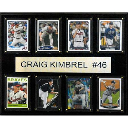 - C&I Collectables MLB 12x15 Craig Kimbrel Atlanta Braves 8-Card Plaque