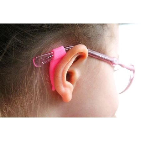 Eyeglass strap Stay Puts  Sunglass Strap Silicone Retainer 4 pack pink ()