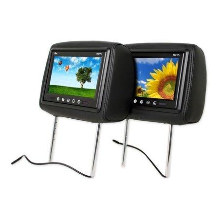 Pair Of Tview T921pl Universal 9   Black Headrest Car Video Monitors   2 Remotes