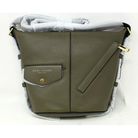 Marc Jacobs Mini Sling Convertible Leather Hobo Purse Artichoke