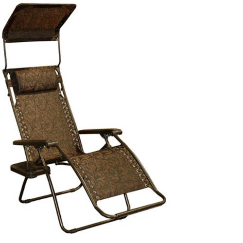 Gravity Free Recliner with Sun Shade, Multiple Colors