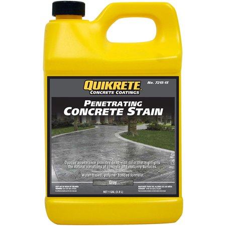 Slate Concrete Stain - Quikrete Penetrating Concrete Stain Gray gal