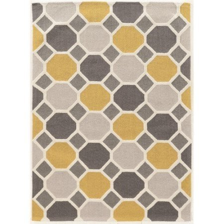 Linon Trio Ceramic Gold Blue OffWhite Silk Ftx X Gray - 8 x 10 white ceramic tile
