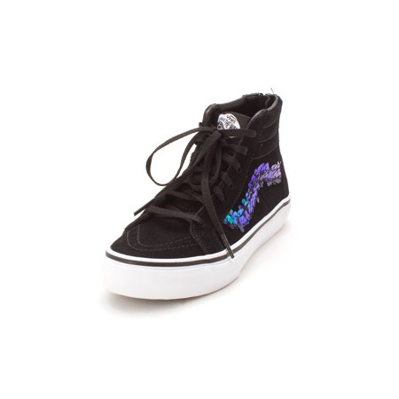 Kids Vans Girls Sk8-Hi Zip (Sequi Hight Top Lace Up Fashion - How Lace Vans