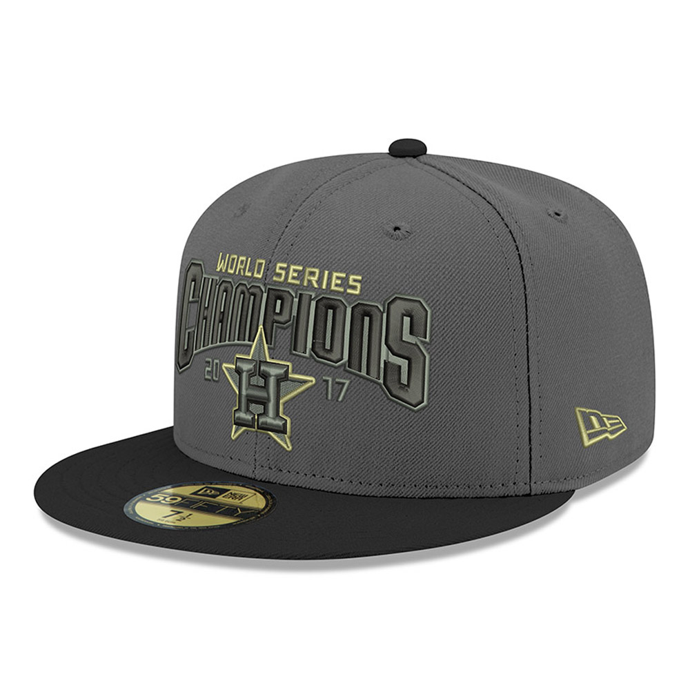 Men's New Era Graphite/Black Houston Astros 2017 World Series Champions Trophy 59FIFTY Fitted Hat