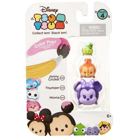 Disney Tsum Tsum Series 4 Color Pop! Jiminy Cricket, Thumper & Minnie Minifigure 3-Pack
