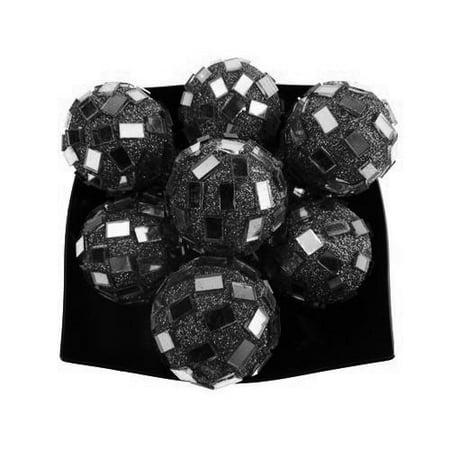 Glitter Disco Ornament Balls, 1-1/4-inch, 10-Piece, Black](Disco Ball Ornament)